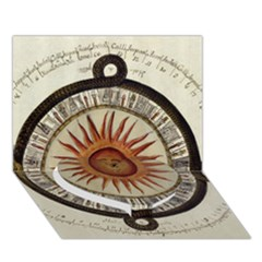 Ancient Aztec Sun Calendar 1790 Vintage Drawing Heart Bottom 3d Greeting Card (7x5) by yoursparklingshop