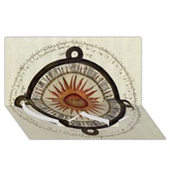 Ancient Aztec Sun Calendar 1790 Vintage Drawing Twin Heart Bottom 3d Greeting Card (8x4) by yoursparklingshop