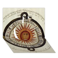 Ancient Aztec Sun Calendar 1790 Vintage Drawing Apple 3d Greeting Card (7x5) by yoursparklingshop