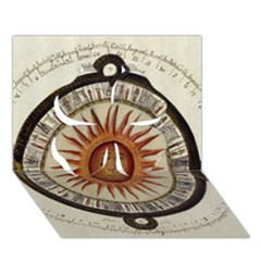 Ancient Aztec Sun Calendar 1790 Vintage Drawing Clover 3d Greeting Card (7x5) by yoursparklingshop