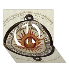 Ancient Aztec Sun Calendar 1790 Vintage Drawing Peace Sign 3d Greeting Card (7x5) by yoursparklingshop