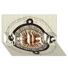 Ancient Aztec Sun Calendar 1790 Vintage Drawing Believe 3d Greeting Card (8x4) by yoursparklingshop