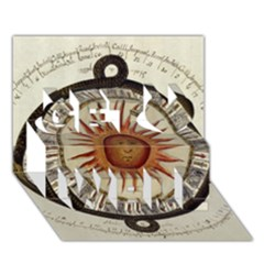 Ancient Aztec Sun Calendar 1790 Vintage Drawing Get Well 3d Greeting Card (7x5) by yoursparklingshop