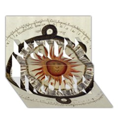 Ancient Aztec Sun Calendar 1790 Vintage Drawing You Rock 3d Greeting Card (7x5) by yoursparklingshop