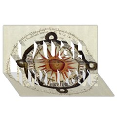 Ancient Aztec Sun Calendar 1790 Vintage Drawing Laugh Live Love 3d Greeting Card (8x4) by yoursparklingshop