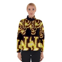Happy Diwali Yellow Black Typography Winterwear