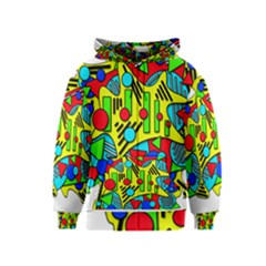 Colorful Chaos Kids  Zipper Hoodie by Valentinaart