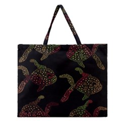 Decorative Fish Pattern Zipper Large Tote Bag by Valentinaart