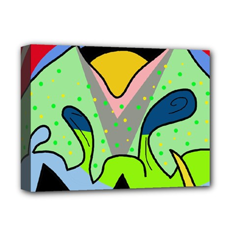 Colorful Landscape Deluxe Canvas 16  X 12   by Valentinaart