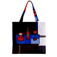 Table Grocery Tote Bag by Valentinaart