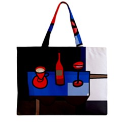 Table Zipper Mini Tote Bag by Valentinaart