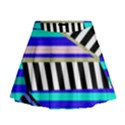 Blue lines decor Mini Flare Skirt View1