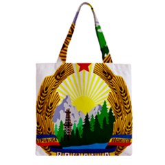 National Emblem Of Romania, 1965 1989  Zipper Grocery Tote Bag by abbeyz71