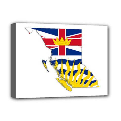 Flag Map Of British Columbia Deluxe Canvas 16  X 12   by abbeyz71