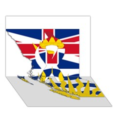 Flag Map Of British Columbia Ribbon 3d Greeting Card (7x5) by abbeyz71