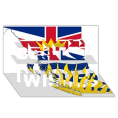 Flag Map Of British Columbia Best Wish 3d Greeting Card (8x4) by abbeyz71