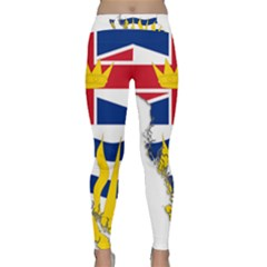 Flag Map Of British Columbia Yoga Leggings  by abbeyz71