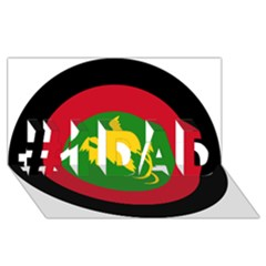 Roundel Of Papua New Guinea Air Operations Element #1 Dad 3d Greeting Card (8x4) by abbeyz71