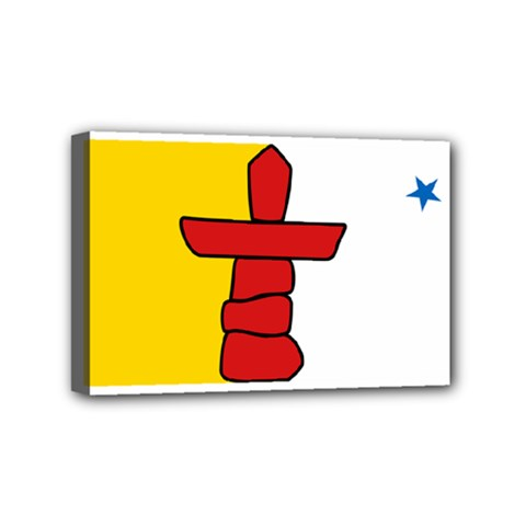 Flag Of Nunavut  Mini Canvas 6  X 4  by abbeyz71
