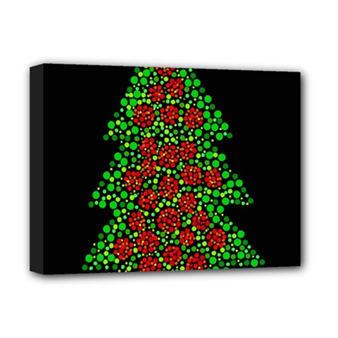Sparkling Christmas Tree Deluxe Canvas 16  X 12   by Valentinaart