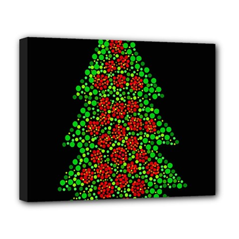 Sparkling Christmas Tree Deluxe Canvas 20  X 16   by Valentinaart