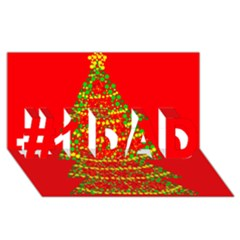 Sparkling Christmas Tree   Red #1 Dad 3d Greeting Card (8x4) by Valentinaart