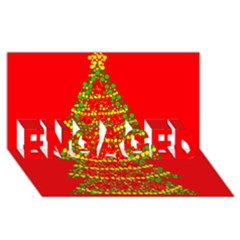 Sparkling Christmas Tree   Red Engaged 3d Greeting Card (8x4)