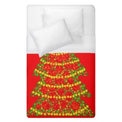 Sparkling Christmas Tree   Red Duvet Cover (single Size) by Valentinaart