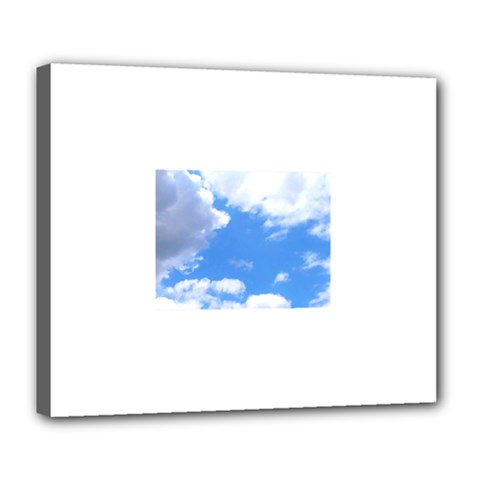 Summer Clouds And Blue Sky Deluxe Canvas 24  X 20   by picsaspassion