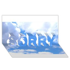 Summer Clouds And Blue Sky Sorry 3d Greeting Card (8x4)