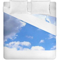 Summer Clouds And Blue Sky Duvet Cover Double Side (king Size)