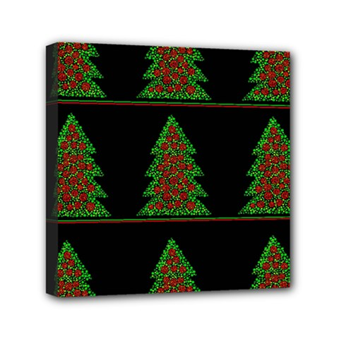 Christmas Trees Pattern Mini Canvas 6  X 6  by Valentinaart