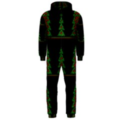 Christmas Trees Pattern Hooded Jumpsuit (men)  by Valentinaart