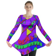 Music 2 Long Sleeve Tunic  by Valentinaart