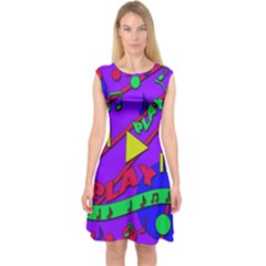 Music 2 Capsleeve Midi Dress by Valentinaart