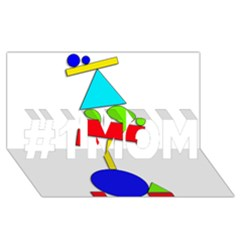 Balance  #1 Mom 3d Greeting Cards (8x4) by Valentinaart