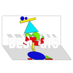 Balance  Best Sis 3d Greeting Card (8x4) by Valentinaart