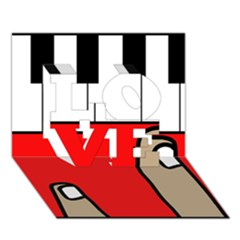 Piano  Love 3d Greeting Card (7x5) by Valentinaart