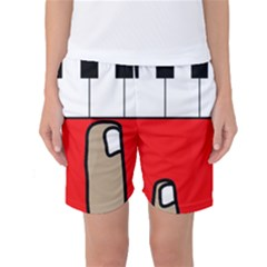 Piano  Women s Basketball Shorts by Valentinaart