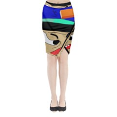 Accident  Midi Wrap Pencil Skirt by Valentinaart