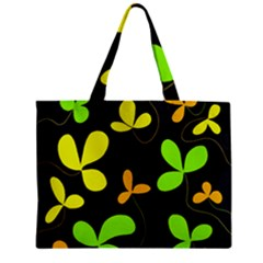 Floral Design Zipper Mini Tote Bag by Valentinaart