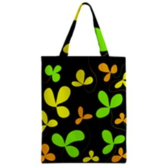 Floral Design Zipper Classic Tote Bag by Valentinaart