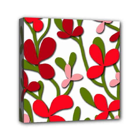 Floral Tree Mini Canvas 6  X 6  by Valentinaart