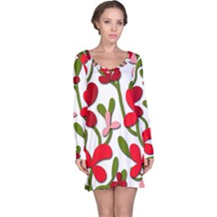 Floral Tree Long Sleeve Nightdress