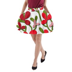 Floral Tree A Line Pocket Skirt by Valentinaart
