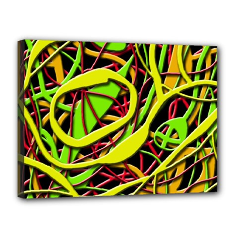 Snake Bush Canvas 16  X 12  by Valentinaart