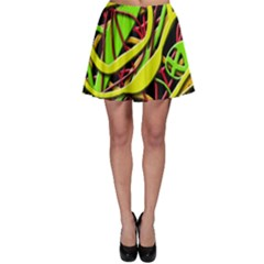 Snake Bush Skater Skirt by Valentinaart