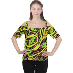 Snake Bush Women s Cutout Shoulder Tee by Valentinaart