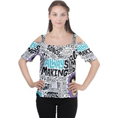 Always Making Pattern Women s Cutout Shoulder Tee