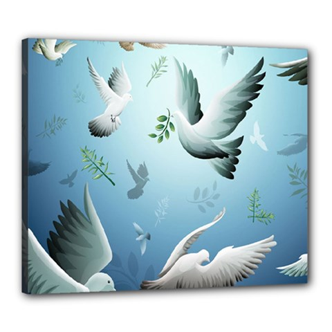 Animated Nature Wallpaper Animated Bird Canvas 24  X 20  by AnjaniArt